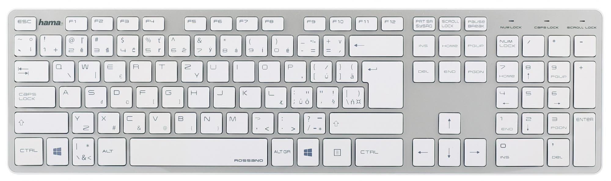 172ac7d4f Elegantná klávesnica Hama Rossano