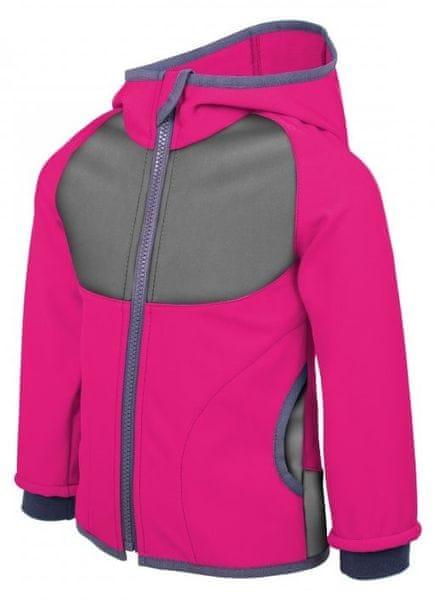 Unuo dívčí softshellová bunda Fuchcia 98/104 růžová