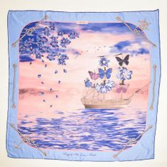 VERSACE 19.69 dámský světle modrý šátek Feel Butterflies