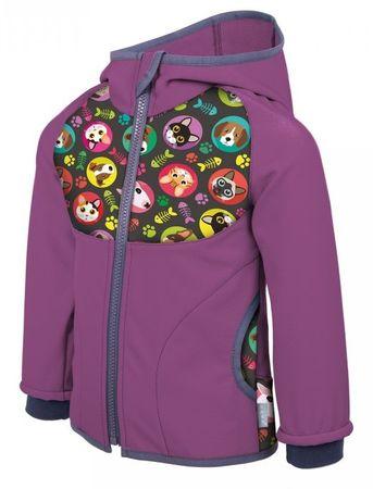 Unuo lány softshell kabát Macska és Kutya 68-74 lila