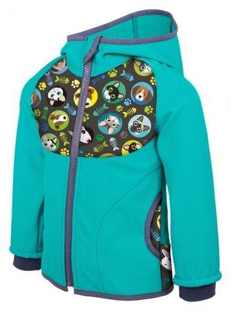 Unuo fantovska elegantna softshell bunda, MačkaPes, 80 - 86, zelena