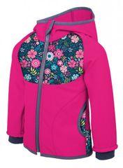 Unuo dekliška softshell bunda, cvetlični vzorec