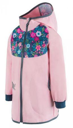 Unuo dívčí kabátek Květiny 110/116 ružová