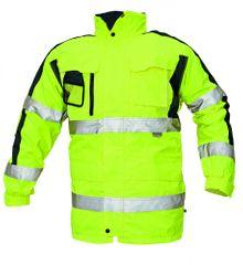 Cerva Zimná nepremokavá bunda Tripura 3v1 reflexná žltá XXL