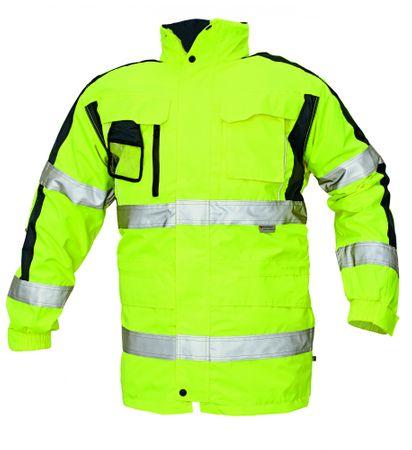 Červa Zimná nepremokavá  bunda Tripura 3v1 reflexná žltá  XL