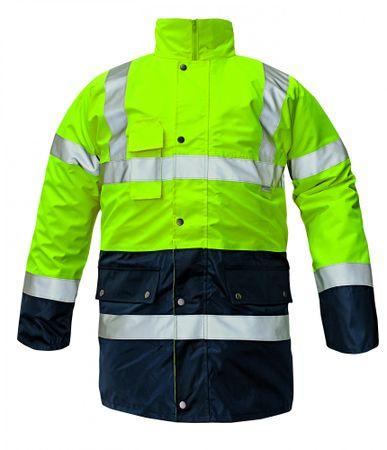 Červa Zimná nepremokavá bunda Biroad 3v1 reflexná žltá  XL