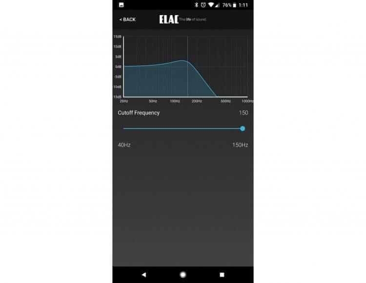 Elac Debut SUB3010, černý