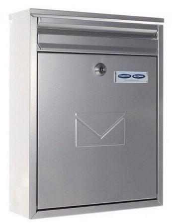 Rottner poštni nabiralnik Como, srebrni
