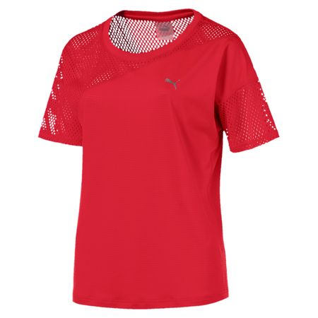Puma A.C.E. Mesh Blocked Tee Ribbon Red XS