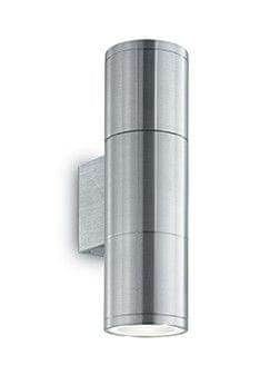 Ideal Lux zunanja stenska svetilka Gun AP2 Small alluminium 033013, sijoči krom