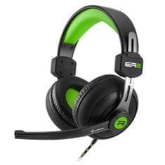 Sharkoon slušalke Rush ER2, črno/zelene