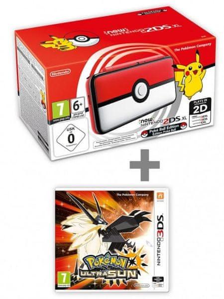 Konzole New Nintendo 2DS XL Poké Ball Edition + Pokémon Ultra Sun (3DS)