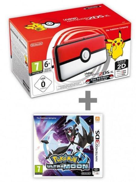 Konzole New Nintendo 2DS XL Poké Ball Edition + Pokémon Ultra Moon (3DS)