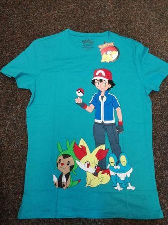 Tričko Pokémon - Ash (zelené, velikost M)