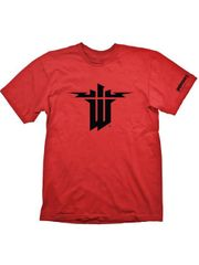 Tričko Wolfenstein II: The New Colossus - Logo, Červené (velikost XL)