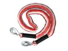 MAMMOOTH Tažné lano, elastické, 4 m, 2 800 kg, se 2 karabinami