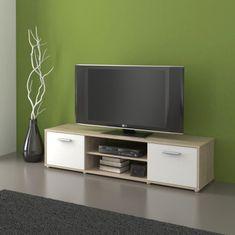 Televizní stolek ZIU01, dub sonoma/bílá