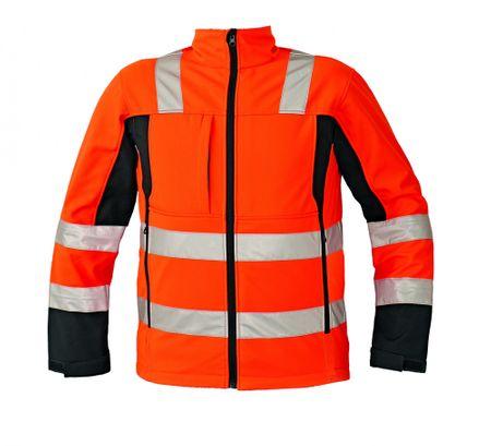 Červa Reflexná softshellová bunda Malton oranžová M