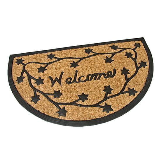 FLOMA Gumová kokosová vstupní rohož Welcome - Deco - 75 x 45 x 0,8 cm