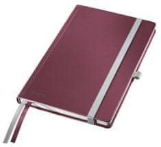 Zápisník Leitz Style A5 tvrdé desky čtverečkovaný granátově červený