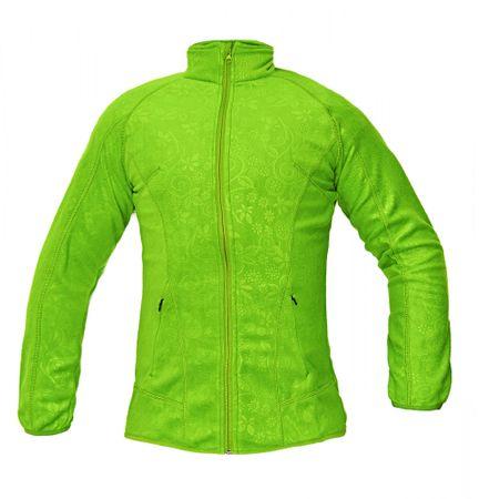 Červa Fleece mikina Yowie dámska zelená XL  0c1427534e