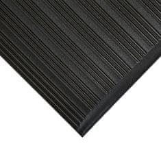 Černá protiskluzová protiúnavová průmyslová pěnová rohož - 0,9 cm