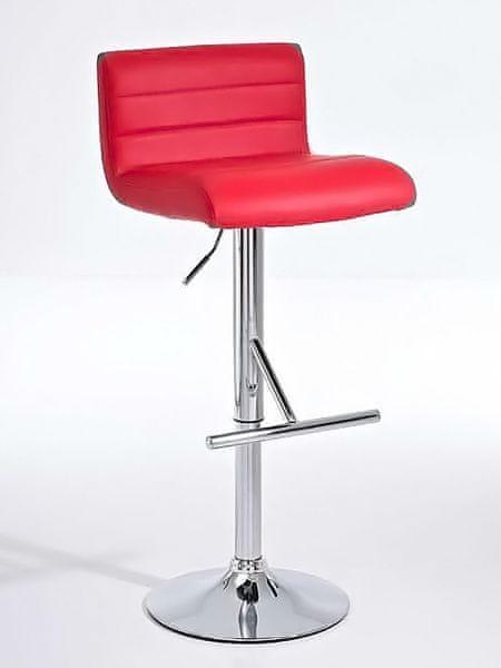 BHM Germany Barová židle Leonidas (SET 2 ks), červená