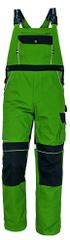 Stanmore Bavlnené montérky na traky pánske zelená 50