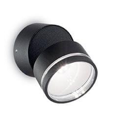 Ideal Lux Venkovní bodové LED svítidlo Omega Round AP1 nero 165387 černé