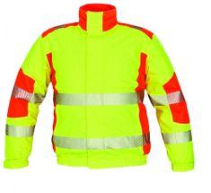 Cerva Zimná reflexná bunda Trila s membránou žltá/oranžová XXL
