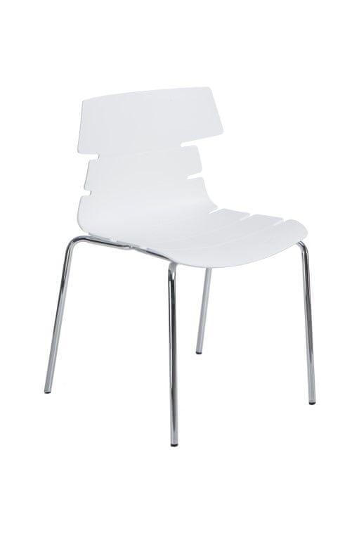Mørtens Furniture Jídelní židle Stolen, bílá