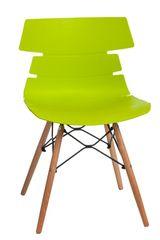 Mørtens Furniture Jídelní židle s dřevěnou podnoží Stolen, zelená