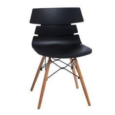 Mørtens Furniture Jídelní židle s dřevěnou podnoží Stolen, černá