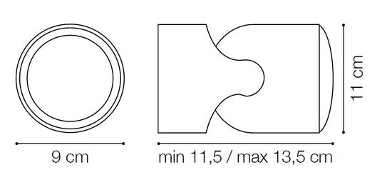 Ideal Lux zunanja svetilka Xeno AP1 nero 129464, črna