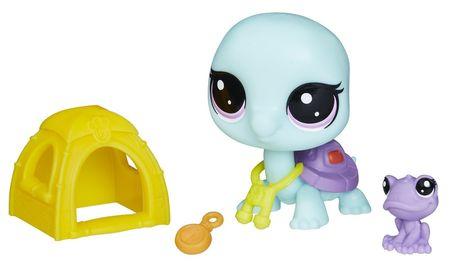 Littlest Pet Shop zabawka Mama z dzieckiem + akcesoria - Żółwik