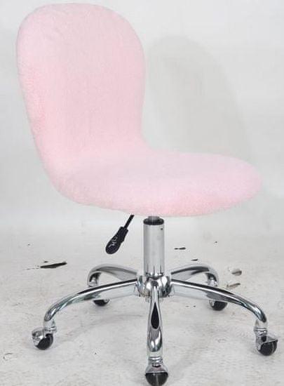 Pisarniški stol Muff, roza