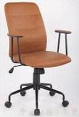 Pisarniški stol BRONX PU, rjav