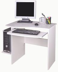 PC stůl s výsuvnou deskou MAKSIM, bílá