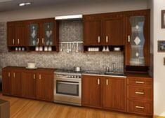 Kuchyně MAGRET 3, 260 cm, ořech