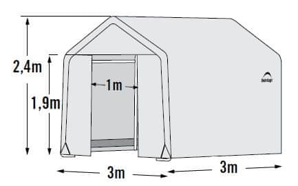 ShelterLogic fóliovník 3,0x3,0 m - 35 mm - 70656EU
