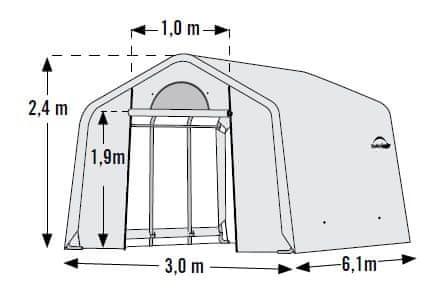ShelterLogic fóliovník 3,0x6,1 m - 35 mm - 70658EU