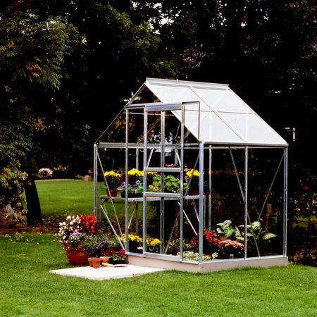 VITAVIA skleník VITAVIA VENUS 2500 číre sklo 3 mm strieborný