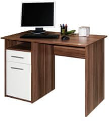 Kancelářský psací stůl MIIRO, švestka/bílá