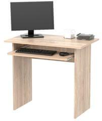 Jednoduchý  PC stůl TVIST, dub sonoma