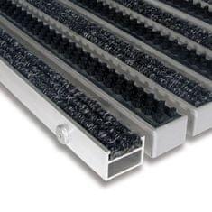 FLOMAT Textilní hliníková kartáčová vnitřní vstupní rohož Alu Extra, FLOMAT - 2,7 cm