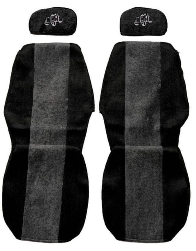 F-CORE Potahy na sedadla PS06, šedé