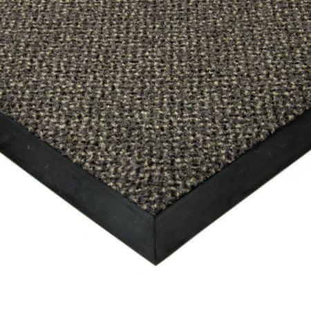 FLOMAT Šedá textilní čistící vnitřní vstupní rohož Cleopatra Extra - 200 x 150 x 1 cm
