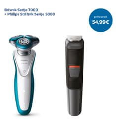 Philips set strižnik MG5730/15 + brivnik S7310/12