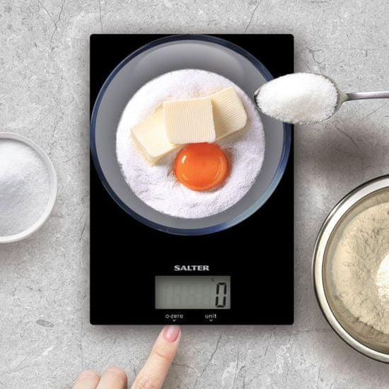 Salter Digitálna kuchynská váha čierna