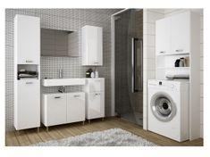SINDY, koupelnová sestava, alpská bílá/bílý lesk DOPRODEJ
